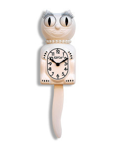 White-Lady-Kit-Cat-Clock